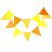 Da.Wa Triangle Flag Multicolor Pennant Banner Flags, Triangle Fabric Flag for Party, Birthdays, Festivals, Christmas Decorations,3M