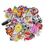 Sticker Pack 100-Pcs,Neuleben Sticker Decals Vinyls for Laptop,Kids,Cars,Motorcycle,Bicycle,Skateboard Luggage,Bumper Stickers Hippie Decals bomb Waterproof …