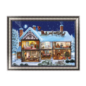 Elat Park Christmas House Embroidery 5D Diamond Painting DIY Cross Stitch Home Decor Craft