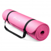 RitFit 1.3cm Extra Thick High Density NBR Comfort Foam Yoga Mat with Carrying Strap for Pilates, Fitness & Workout