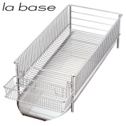 la base NEW dish drainer slim lateral installation type three points DLM-8775 Yoko Arimoto design peace fixed phrase JAN