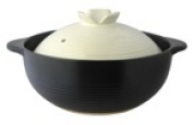 Earthenware pot deep model earthenware pot party black and white 10 that is hard to boil over