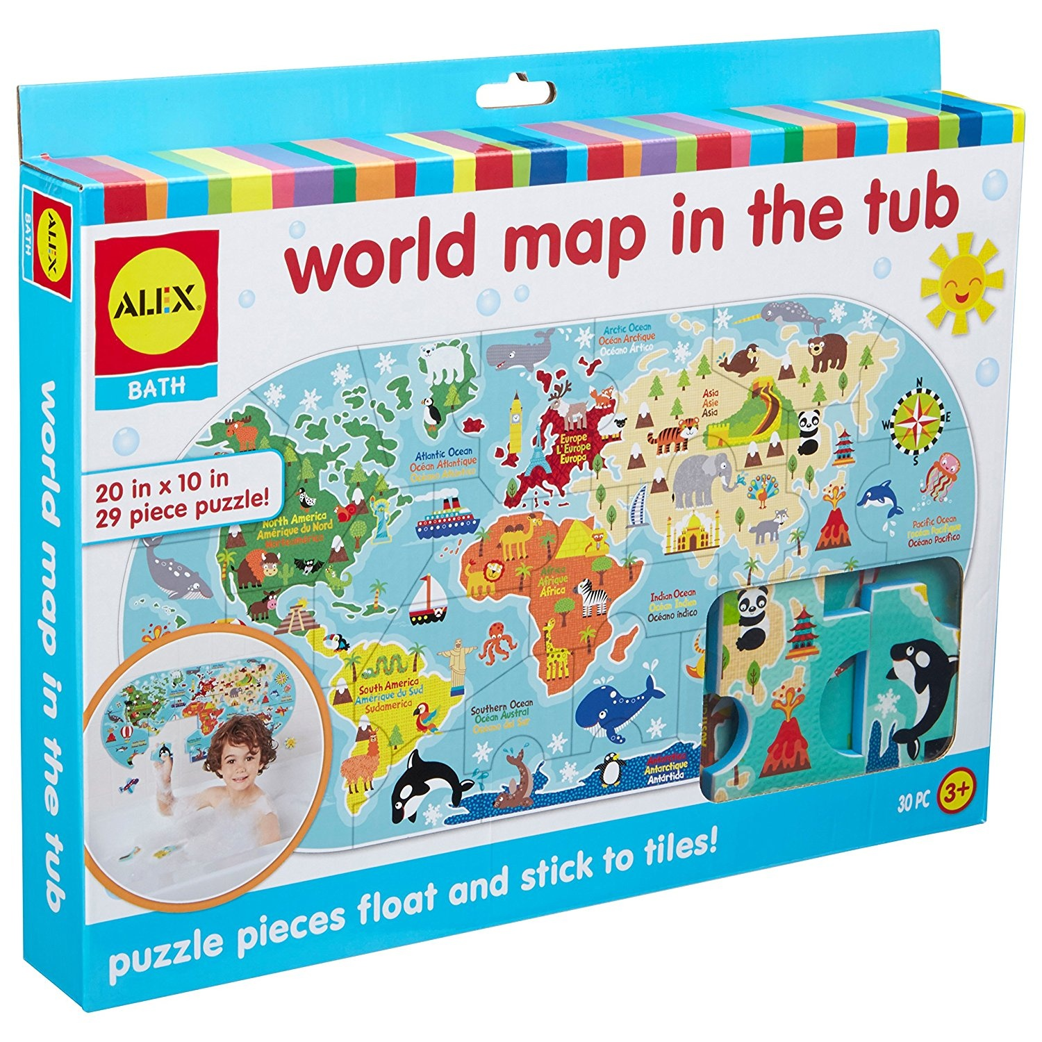 ALEX Bath World Map in the Tub by ALEX Toys - Shop Online for Baby ...