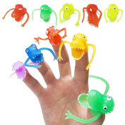 Kangkang@ 10PCS Funny Dinosaur Style Finger Puppet Toy Set Party Favours Toy Kids Children's Playing Story Halloween Time Random Colour