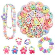 Miss.AJ Children DIY Bracelet Bead Art & Jewellery-Making , Bead string making set , Cultivate Colour sensitive,