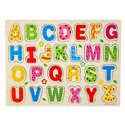 Jesica 26pcs English Alphabet Letters Wooden Puzzle Educational Toy Gift for Kids