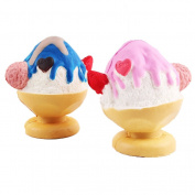 2pcs Kawaii Cream Scented Slow Rising Toy, ACAREU Ice Cups Hand Wrist Exercise Stress Relief Squeeze Relieve Fun Decor Gift Squeeze Toy