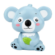 OVERMAL New 12cm Cute Koala Cream Scented Squishy Toy Slow Rising Squeeze Strap Kid Toy Gift