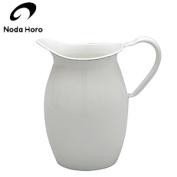 All Noda enamel pitcher white 13cm WP-13 JAN
