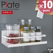 Magnet spice rack Plate (plate) white [Yamasaki business]