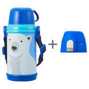 Doshisha CALDO-Colours 2WAY kids bottle 600 ml white bear DBKB600BL