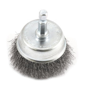 Forney Industries 72730 Fine Crimped Wire Cup Brush, 5.1cm Dia, 0.02cm Wire