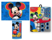 15pc Disney Mickey Mouse Clubhouse Shower Curtain Bath Towel Foam Mat Hooks Set