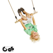 """Possess DIY child infant kids garden log and a wooden frame; swing one piece of article """"there is no open field gang trapeze frame selling according to the hanging hardware"""" for the garden swing outdoors home own work"""