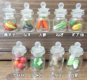 Postal mini thiaaccessory miscellaneous goods Thailand miscellaneous goods carafe glass jar glass jar more than two miniature vegetables glass bottles by the purchase out of the fixed form