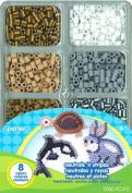 Parlour beads neutral & stripe mini-tray / Perler Beads Fused Bead Mini Tray, Neutrals 'n Stripes