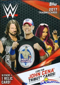 2017 Topps WWE Wrestling HUGE EXCLUSIVE Factory Sealed Retail Box with 10 Packs, RELIC Card & JON CENA Tribute Card! Look for Cards, Autographs & Relics of Jon Cena,Sting,Triple H & Many More! WOWZZER