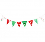 Annlaite Merry Christmas Banners for Party Decoration -Home Decor