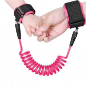 Anti Lost Safety Wrist,KoKome Safety Wrist Link Harness Strap Rope Backpack Leash Walking Hand Belt Band Wristband-PINK