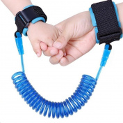 Anti Lost Safety Wrist,KoKome Safety Wrist Link Harness Strap Rope Backpack Leash Walking Hand Belt Band Wristband-BLUE
