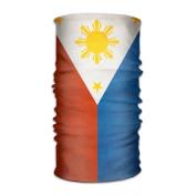 ZQQZ Philippine Flag Multifunctional Magic Headwear 12-in-1 Men & Women Tube Scarf Facemask Headbands Neck Gaiter Bandana Balaclava Helmet For Outdoor Running Yoga Work Out