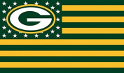 NFL Green Bay Packers Stars and Stripes Flag Banner - 0.9m X 1.5m - USA FLAG
