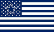 NFL Dallas Cowboys Stars and Stripes Flag Banner - 0.9m X 1.5m - USA FLAG