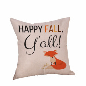 Paymenow Happy Halloween Happy Fall Yall Letter Printed Zippered Pillowcase Sofa Cushion Cover Festival Home Decor