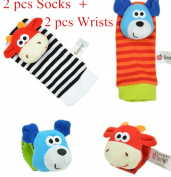 Wrist Strap Rattles/Animal and Baby Socks rattles