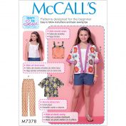 Girls'/Girls' Plus Kimono-Style Jackets, Tops, Shorts and Pants, 7, 8, 10, 12 and 14