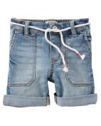 OshKosh B'gosh Little Girls' Stretch Denim Shorts, 2-Toddler