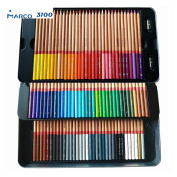 Marco Renior 100 count Coloured Oil Pencils Set Perfet for Artist Sketching Drawing Writing Art Painting/ Adult Colouring Books Metal Tin Case Egoshop