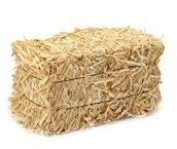 Set of 3 Mini Hay Bales for Autumn Harvest Craft, Decoration and Display