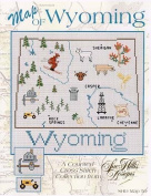 Wyoming Map Cross Stitch Chart and Free Embellishment