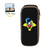 Mybox Clown Graphics Cube Pen Case Pencil Box Soft Canvas Student Stationery Office Storage