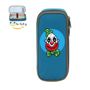 Mybox Clown Monster Face Cube Pen Case Pencil Box Soft Canvas Student Stationery Office Storage