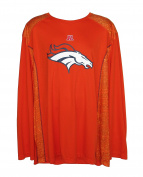 Denver Broncos Orange Performance Shirt Adult Size 3X-Large 3XL Long Sleeve