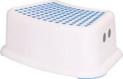 Kids Step Stool - Perfect for Potty Training and Bathroom Use - (White Blue) - by Utopia Home