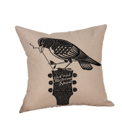 Inverlee Happy Halloween Home Decor Crow Pillow Cases Linen Sofa Cushion Cover