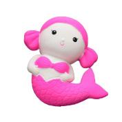 Cute Mermaid Slow Rising Squishy PU Simulation Animal Stress Relief Toy