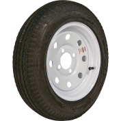Loadstar Bias Tyre and Wheel (Rim) Assembly K353, 480-12 4 Hole 6 Ply, White without Stripes, Modular