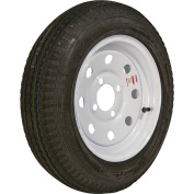 Loadstar Bias Tyre and Wheel (Rim) Assembly K353, 530-12 4 Hole 4 Ply, White without Stripes, Modular