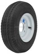 Trailer Wheel & Tyre #349 480-8 4.80-8 12cm x 20cm Load Range B 5 Bolt Hole White