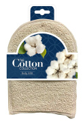 The Cotton Collection Body Mitt - Deep Exfoliating Cotton Body Mitt - Natural Materials Infused - Nourish Your Skin and Cleanse