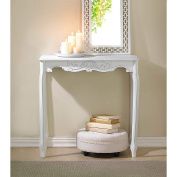 BSD National Supplies Elizabeth Antique White Accent Table