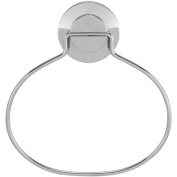 Everloc Push N' Loc Suction Cup Towel Ring Chrome with Chrome Cover