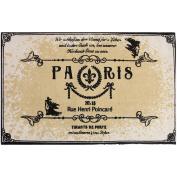 Paris Printed Typography Cotton 60cm x 90cm Rug