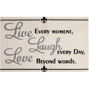Live, Laugh, Love Printed Typography Cotton 60cm x 90cm Rug