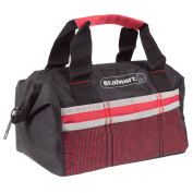 Soft Sided Tool Bag With Wide-Mouth Storage- Durable 30cm Compact Storage Pouch With Pockets for Tools and Organisation By Stalwart