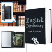 Lock Box with Key, Diversion Book Safe (Portable Safe Box, Great for Travelling, Store Money, Jewellery, and Passport) by Stalwart, Dictionary - 7.6cm x 10cm